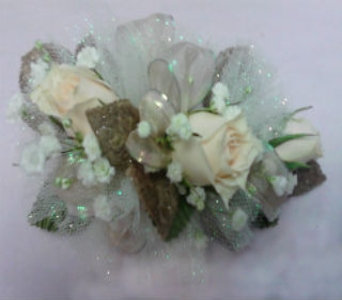 White Sweet heart corsage in Milford OH, Jay's Florist