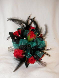 Red Black & Blue Corsage in Lake Charles LA, A Daisy A Day Flowers & Gifts, Inc.