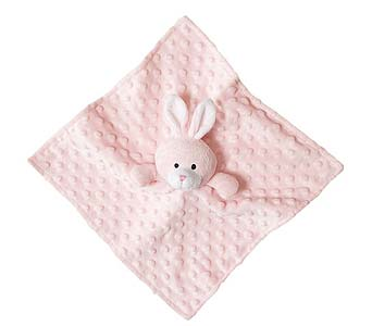 Security Baby Blankie Pink Bunny in Detroit and St. Clair Shores MI, Conner Park Florist