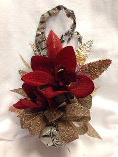 Red Orchid Corsage in Lake Charles LA, A Daisy A Day Flowers & Gifts, Inc.