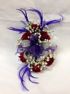 Red & Purple Corsage  in Lake Charles LA, A Daisy A Day Flowers & Gifts, Inc.
