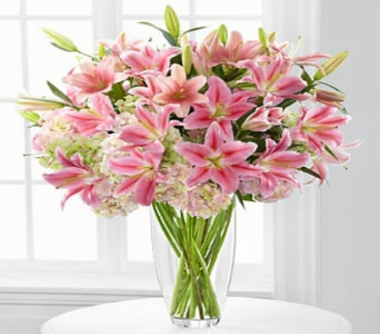 Intrigue Lily & Hydrangea Bouquet - 22 Stem in Arizona, AZ, Fresh Bloomers Flowers & Gifts, Inc