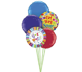 Get Well Soon Balloon Bouquet in Oklahoma City OK, Trochta's