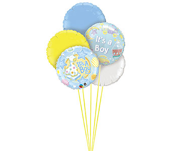 It�s A Boy Balloon Bouquet in Oklahoma City OK, Trochta's