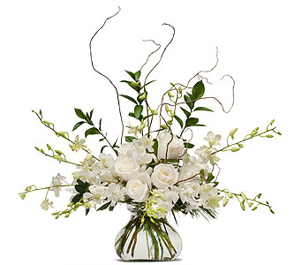 White Elegance in Green Bay WI, Enchanted Florist