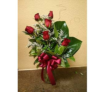 Half Dozen Red in Rancho Cordova CA, Roses & Bows Florist Shop