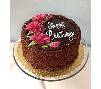 Happy Birthday chocolate cake in Portland OR, Portland Florist Shop