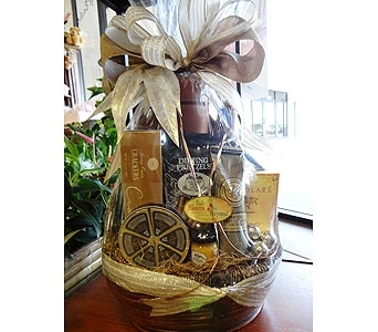 Leather Tote Wine & Gourmet for HIM in Silvermill Plaza FL, Buds, Blooms & Beyond