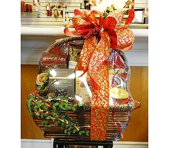 Wine Glass & Wine Gourmet Basket in Silvermill Plaza FL, Buds, Blooms & Beyond