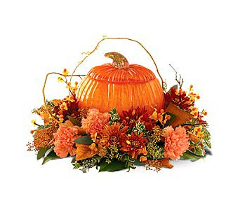Bountiful Thanksgiving Centerpiece in Wall Township NJ, Wildflowers Florist & Gifts