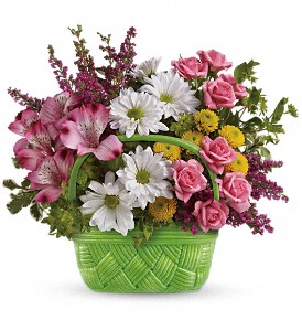 Teleflora's Basket Of Beauty Bouquet in New Paltz NY, The Colonial Flower Shop