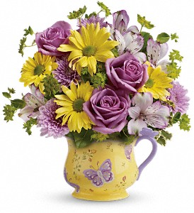 Teleflora's Butterfly Serenity Bouquet in Houma LA, House Of Flowers Inc.