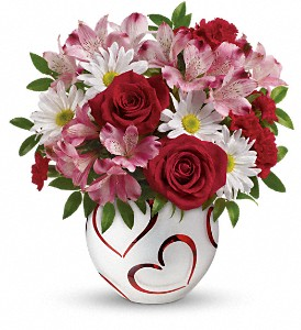 Teleflora's Happy Hearts Bouquet in Bluffton SC, Old Bluffton Flowers And Gifts