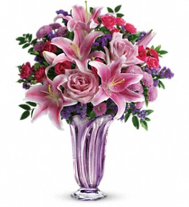 Teleflora's Lavender Grace Bouquet in Cocoa FL, A Basket Of Love Florist
