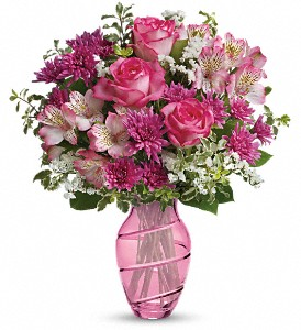 Teleflora's Pink Bliss Bouquet in New Paltz NY, The Colonial Flower Shop