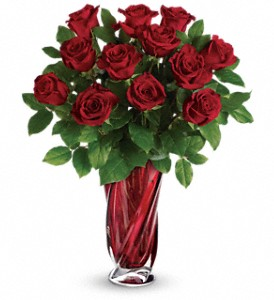 Teleflora's Red Radiance Bouquet in Mount Morris MI, June's Floral Company & Fruit Bouquets