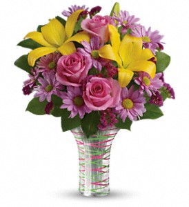 Teleflora's Spring Serenade Bouquet in Bayonne NJ, Blooms For You Floral Boutique