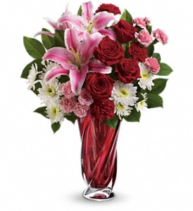 Teleflora's Swirling Beauty Bouquet in San Jose CA, Rosies & Posies Downtown
