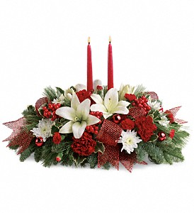 Yuletide Magic Centerpiece in Ajax ON, Reed's Florist Ltd