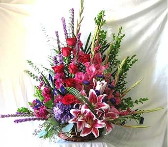 Pure Pinks and Purples Basket in San Diego CA, The Floral Gallery