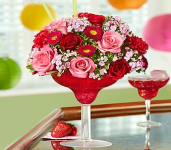 Strawberry Floral Margarita� in Mission Viejo CA, Conroy's Flowers