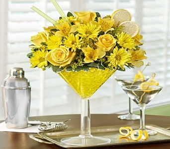 Lemon Martini Bouquet� in Mission Viejo CA, Conroy's Flowers