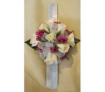 White & Silver with Pink Accents in Wake Forest NC, Wake Forest Florist