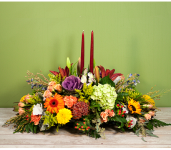 The New York Thanksgiving Centerpiece  in Merrick NY, Feldis Florists
