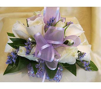 White with Lavender in Wake Forest NC, Wake Forest Florist