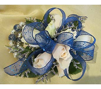 White with Royal Blue in Wake Forest NC, Wake Forest Florist