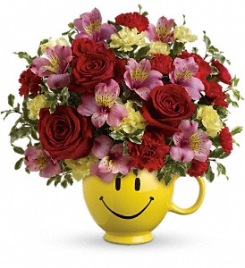 So Happy You're Mine Bouquet by Teleflora in Warsaw KY, Ribbons & Roses Flowers & Gifts