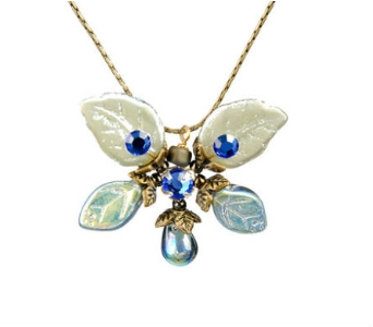 Montana Blue Butterfly Necklace in Traverse City MI, Teboe Florist