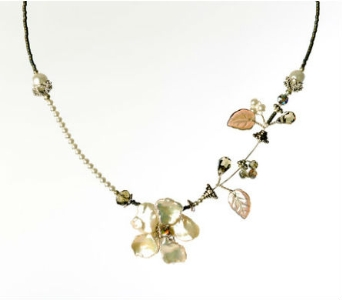 Keishi Pearl Tendril Necklace in Traverse City MI, Teboe Florist