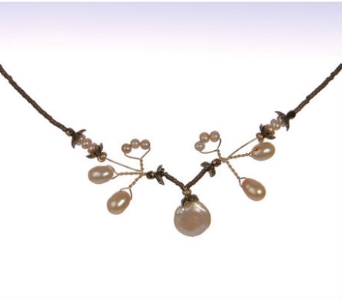 Freshwater Pearl Pixie Necklace in Traverse City MI, Teboe Florist