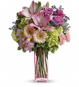 Teleflora's Artfully Yours Bouquet in Redwood City CA, A Bed of Flowers