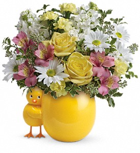 Teleflora's Sweet Peep Bouquet - Baby Pink in Warsaw KY, Ribbons & Roses Flowers & Gifts