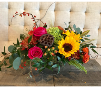 Delight-Fall Centerpiece in Charleston SC, Tiger Lily Florist Inc.