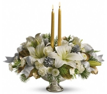 Silver and Gold Centerpiece in Norristown PA, Plaza Flowers