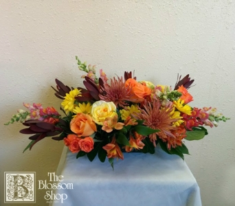 Autumn Traditions Centerpiece in Charlotte NC, The Blossom Shop