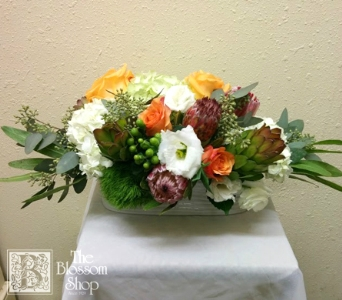 Autumn Elegance Centerpiece in Charlotte NC, The Blossom Shop