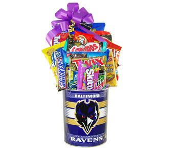 Raven''s Tin of Goodies in Baltimore MD, Raimondi's Flowers & Fruit Baskets