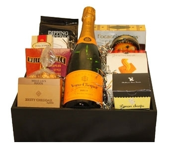 Topper's Veuve Clicquot Gift Tray  in Seattle WA, Topper's European Floral Design
