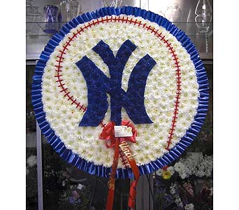NY Yankees White in Manalapan NJ, Vanity Florist II