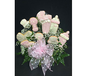 Baby Cookie Basket Bouquet in Portland OR, Portland Florist Shop