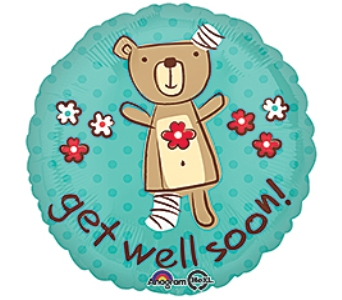 GET WELL SOON BEAR in New Haven CT, The Blossom Shop