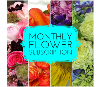 Monthly Flower Subscription in Princeton, Plainsboro, & Trenton NJ, Monday Morning Flower and Balloon Co.