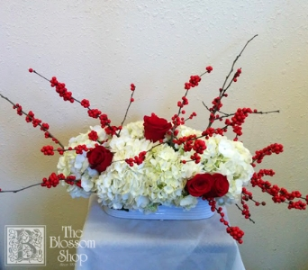 Simply Christmas Centerpiece in Charlotte NC, The Blossom Shop