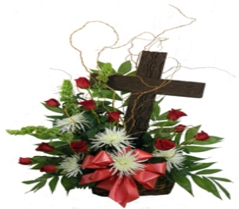 Rustic Cross Basket in Indianapolis IN, Steve's Flowers & Gifts