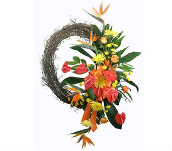 Tropical Paradise Wreath in Indianapolis IN, Steve's Flowers & Gifts