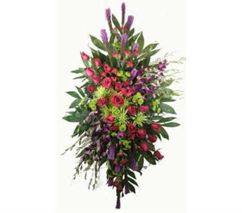 Youthful Remembrance Standing Spray Deluxe in Indianapolis IN, Steve's Flowers & Gifts